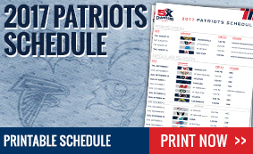 picture about Patriots Printable Schedule identified as Patriots ProShop