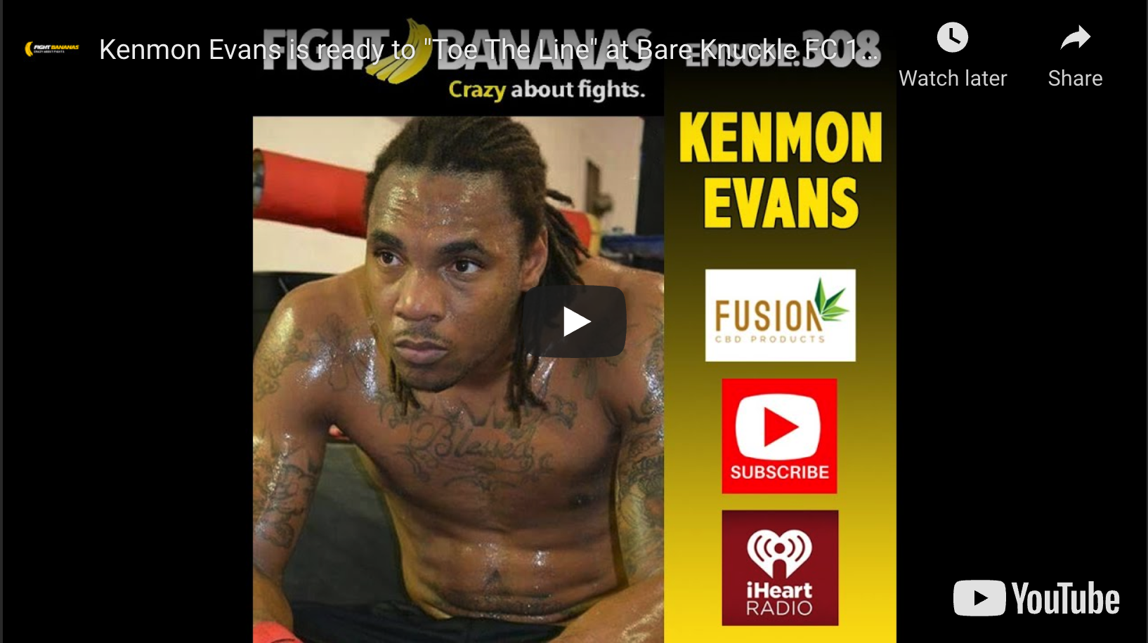 Boxer, Kenmon Evans, makes leap to bare knuckle at BKFC 12, after two and a half year layoff