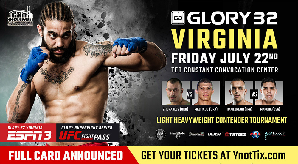 Match-ups and Bout Order Made Official for GLORY 32 Virginia and GLORY 32 SuperFight Series on Friday, July 22