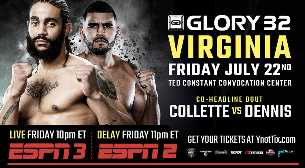 GLORY 32 Virginia Co-Headline Bout: Brian Collette vs. Myron Dennis