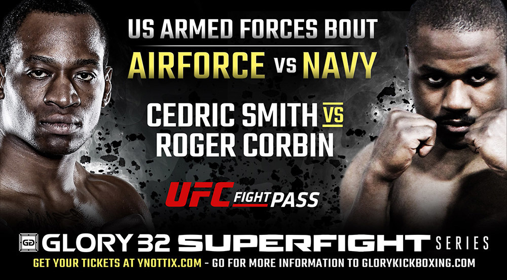 US Air Force vs. US Navy Armed Forces Exhibition Bout Added to GLORY 32 SuperFight Series