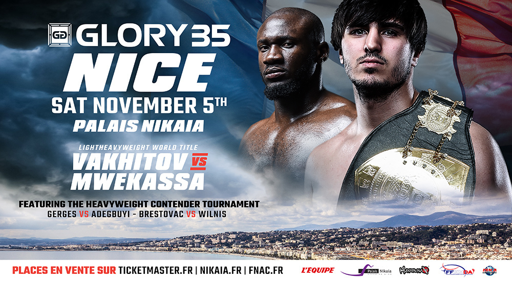 GLORY 35 Nice and GLORY 35 SuperFight Series Cards Finalized