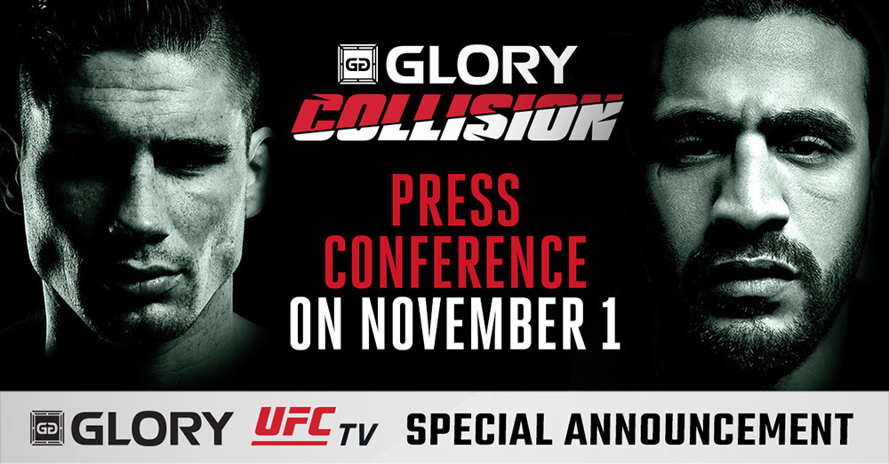 GLORY: COLLISION PRESS CONFERENCE  SET FOR TUESDAY, NOV. 1 IN AMSTERDAM