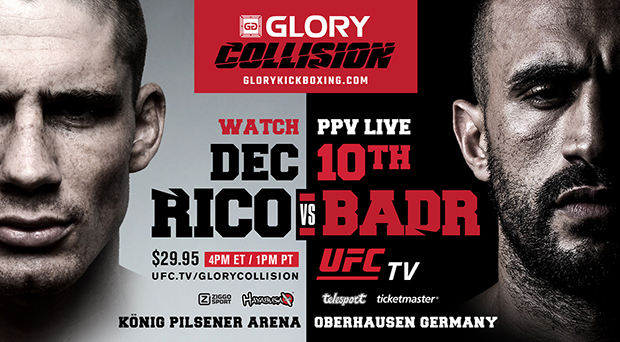 Fight Cards for GLORY: COLLISION, GLORY 36 SuperFight Series  and GLORY 36 Germany on Saturday, Dec. 10 Finalized