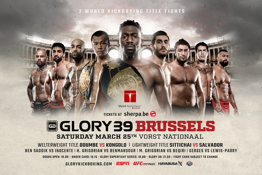 Featherweight Contender Tournament Participants Announced for GLORY 39 Brussels on Saturday, March 25