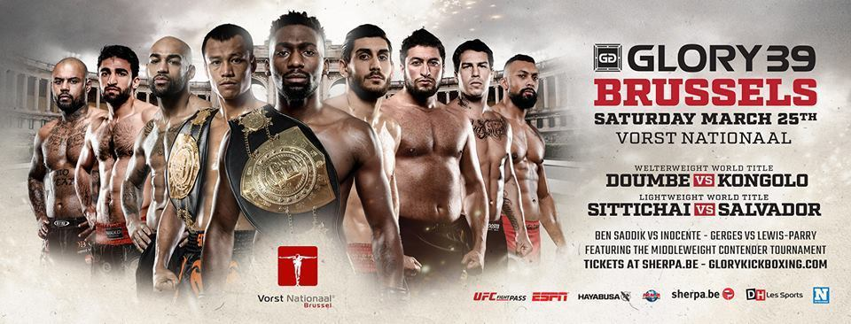 GLORY 39 Brussels and GLORY 39 SuperFight Series Fight Cards Finalized for Saturday, March 25