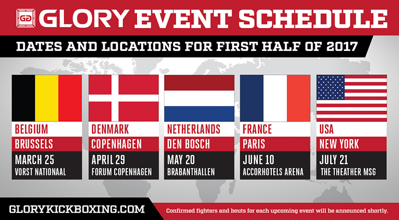 GLORY ROUNDS OUT 2017 FIRST HALF CAMPAIGN WITH EVENTS IN DEN BOSCH, PARIS, AND NEW YORK CITY