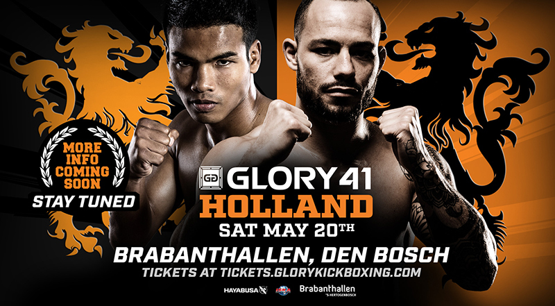 Robin van Roosmalen vs. Petchpanomrung Kiatmookao Announced as Headline Bout for GLORY 41 Holland