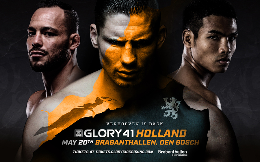 "Rico ""The King of Kickboxing"" Verhoeven Returns To Headline GLORY 41 Holland on Saturday, May 20"