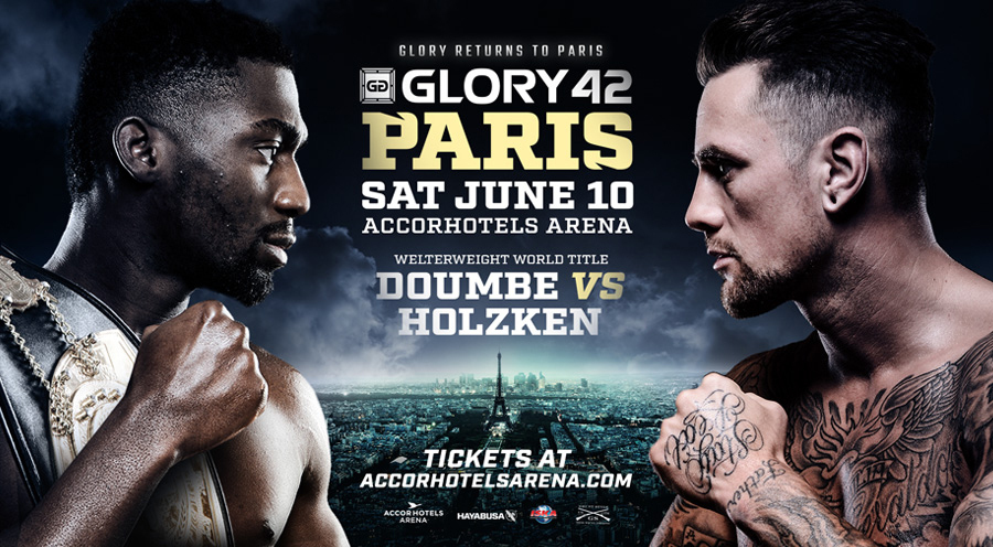 World Champion Cédric Doumbé Headlines GLORY 42 Paris Rematching Welterweight Rival Nieky Holzken