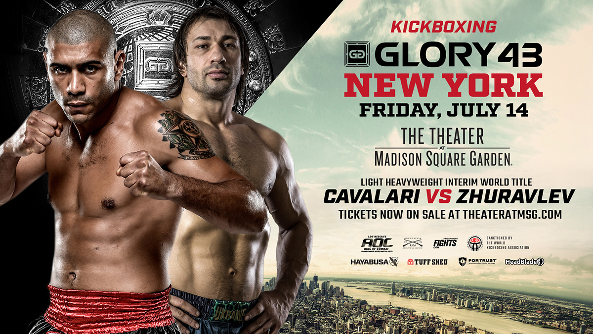 Pivotal GLORY 43 SuperFight Series Bout Between Saulo Cavalari and Pavel Zhuravlev Elevated to Five-Round, Interim Title Affair