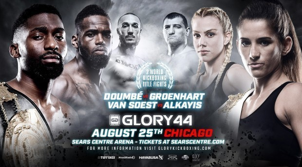 GLORY 44 Chicago to Feature Welterweight Championship Bout, GLORY 44 SuperFight Series Sees Super Bantamweight Title Defense