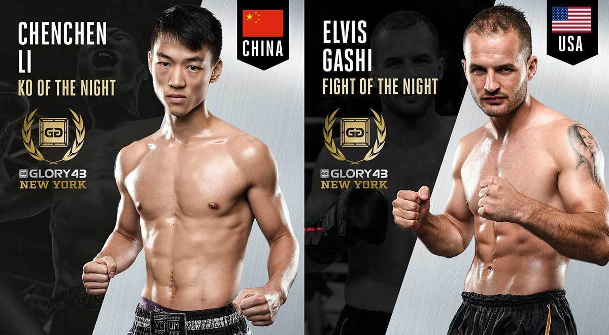 Li and Gashi win bonus awards for GLORY 43 NEW YORK performances