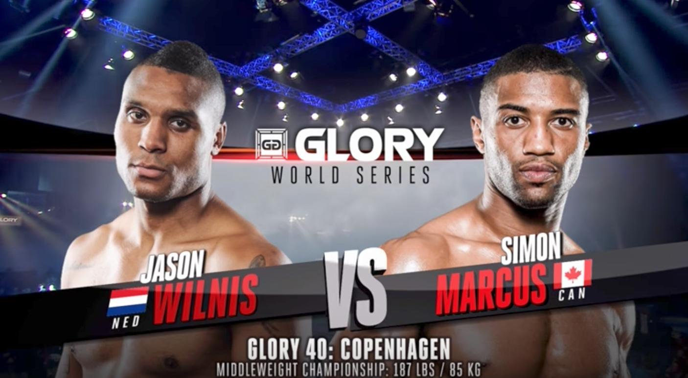 FULL MATCH - Simon Marcus vs. Jason Wilnis - Middleweight Title Fight: GLORY 40 Copenhagen