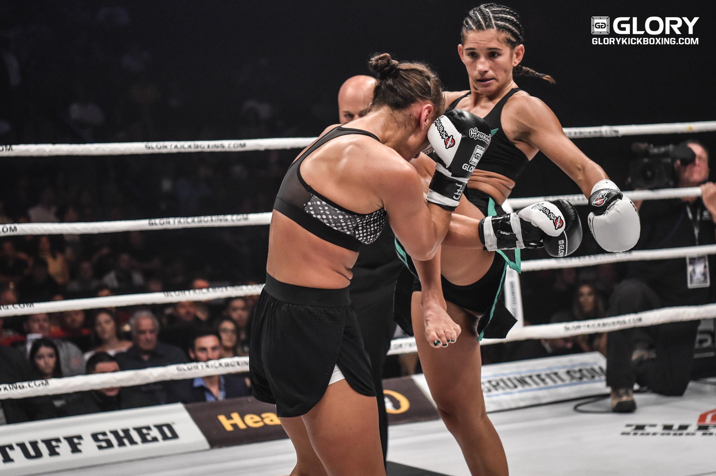 "Tiffany van Soest credits ""hard work, dedication"" with record-making TKO win"