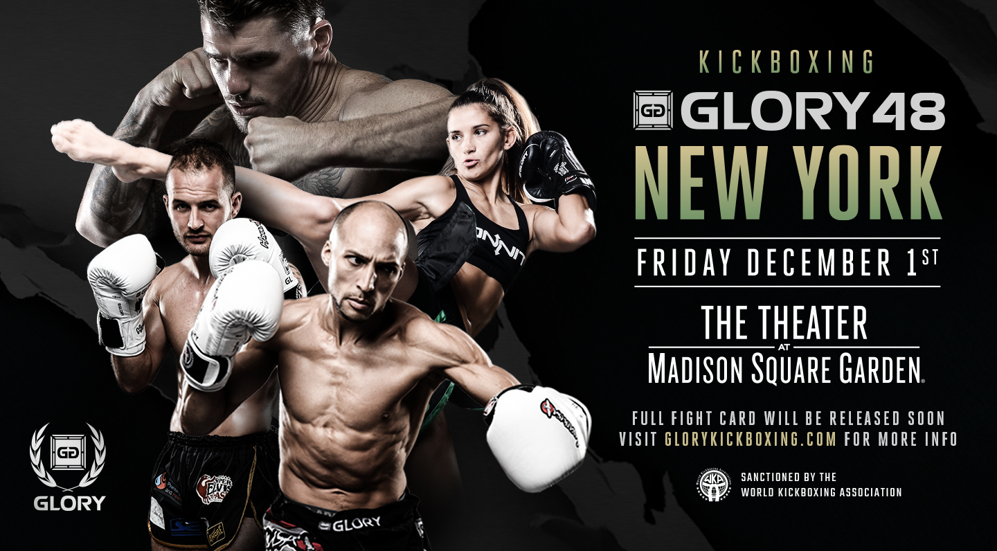 GLORY Returns to The Theater at Madison Square Garden in New York City with Two World Title Fights on Friday, Dec. 1