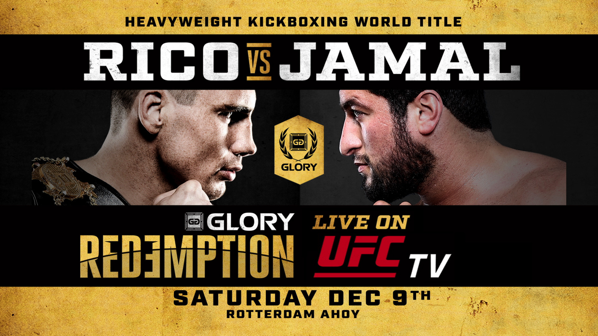 GLORY Signs Agreement with Exclusive Digital Partner UFC.TV to Stream GLORY: REDEMPTION Pay-Per-View Special Event