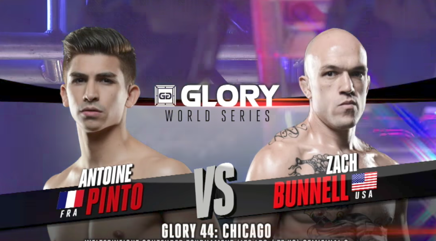 FULL MATCH - Antoine Pinto vs. Zach Bunnell - Tournament Semi-finals: GLORY 44 Chicago
