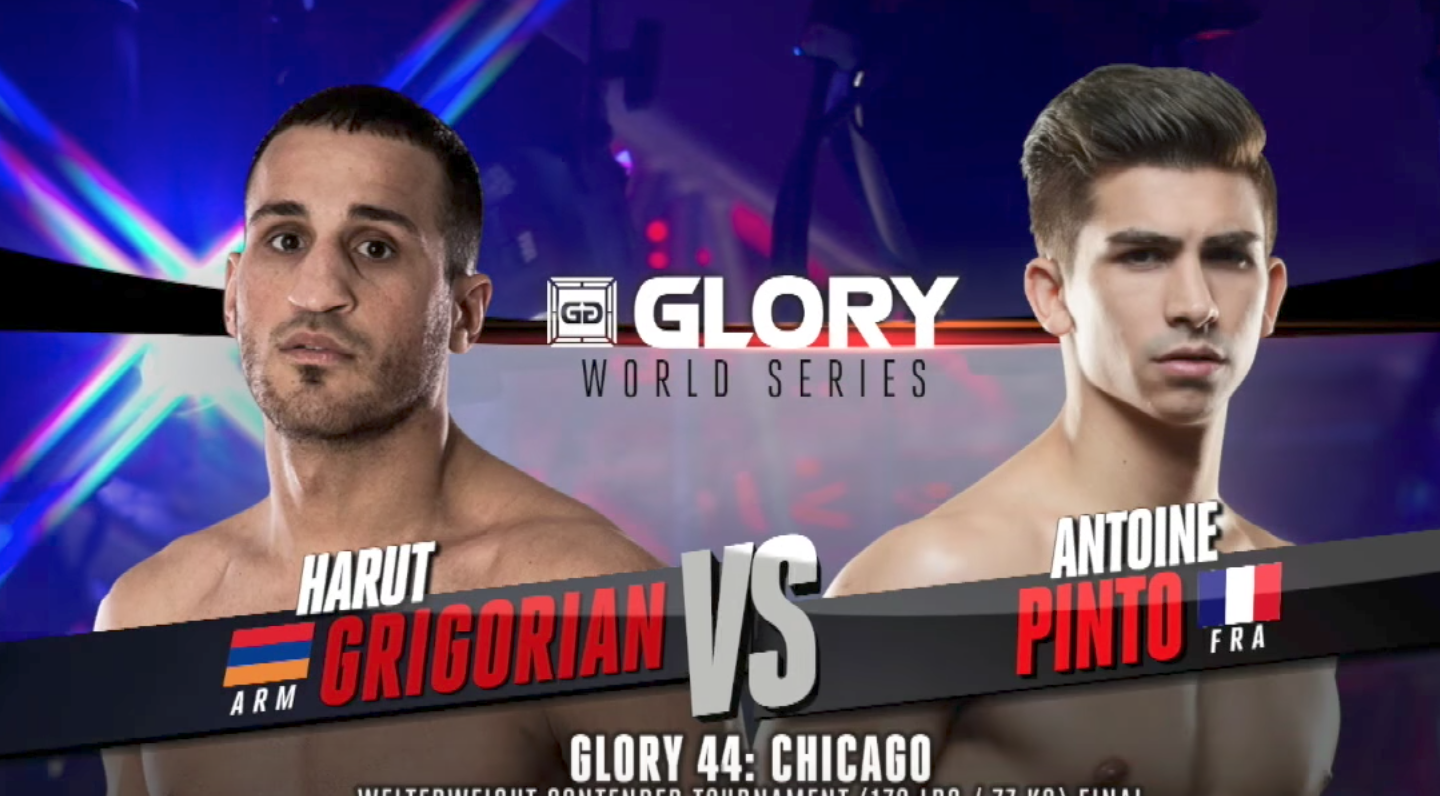 FULL MATCH - Antoine Pinto vs. Harut Grigorian - Tournament Finals: GLORY 44 Chicago