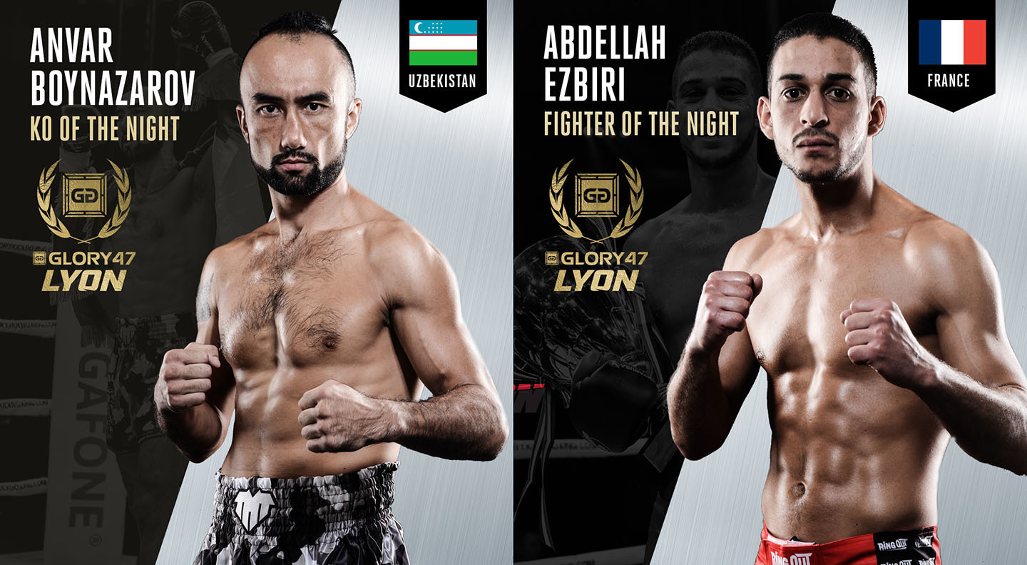 Boynazarov, Ezbiri earn GLORY 47 bonus awards