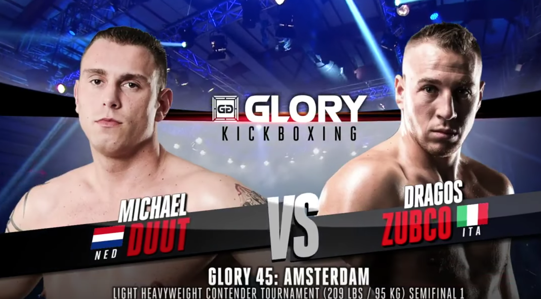 GLORY 45 Amsterdam: Michael Duut vs. Dragos Zubco (Tournament Semi-finals) - FULL FIGHT