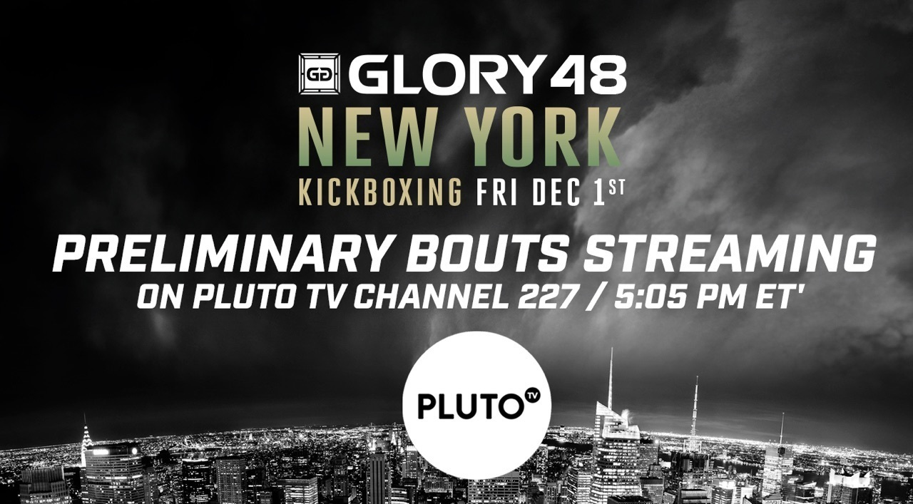 GLORY Partners with Pluto TV to Livestream Preliminary Bouts