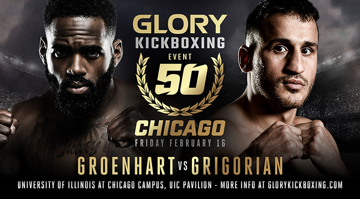 Murthel Groenhart vs. Harut Grigorian Trilogy Fight Headlines GLORY 50 Chicago on Friday, Feb. 16