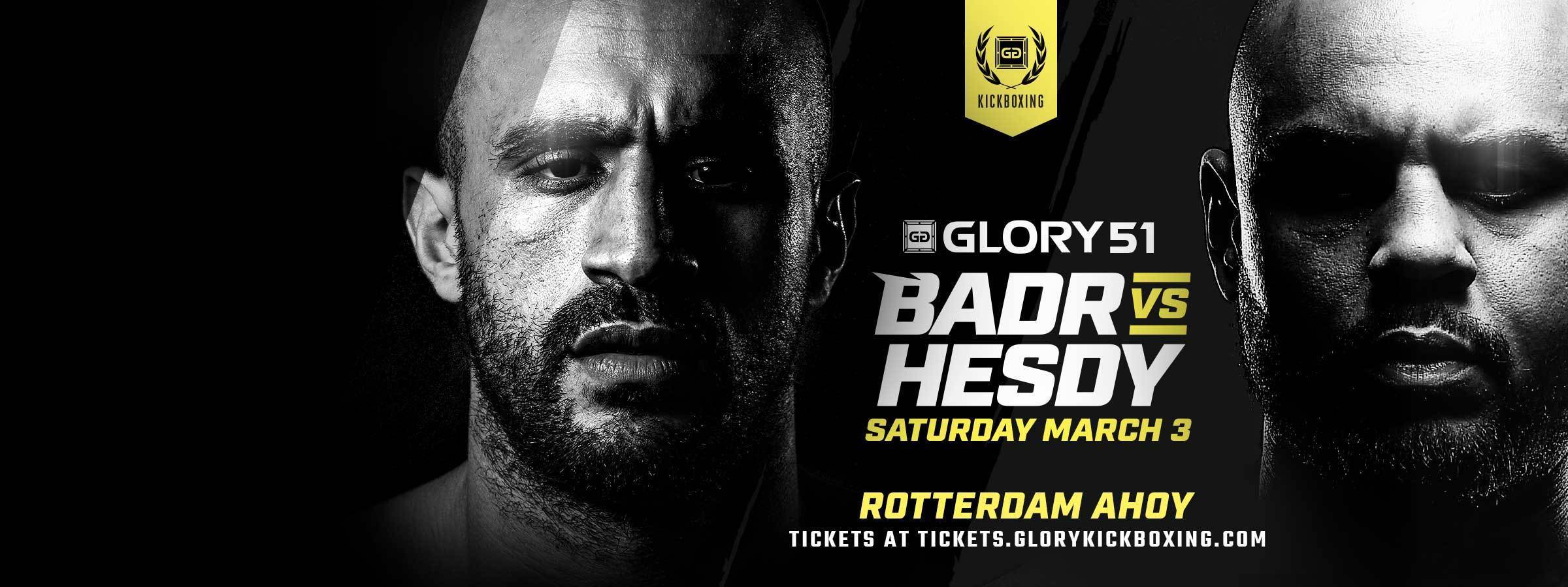 GLORY 51 tickets on sale now!
