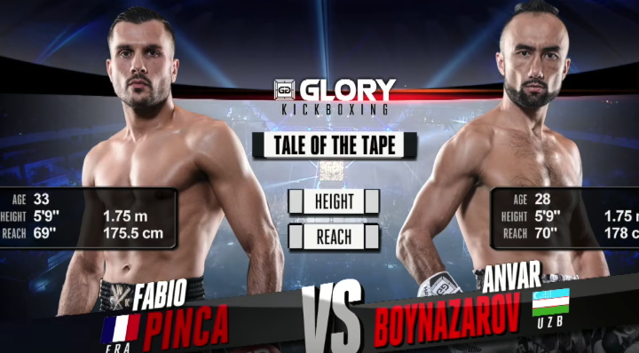 GLORY 47 Lyon: Anvar Boynazarov vs. Fabio Pinca (Tournament semi-finals) - FULL FIGHT
