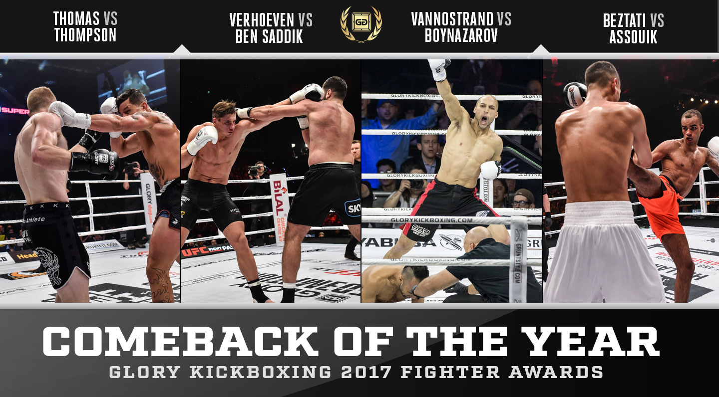 Nominations: GLORY Comeback of the Year 2017
