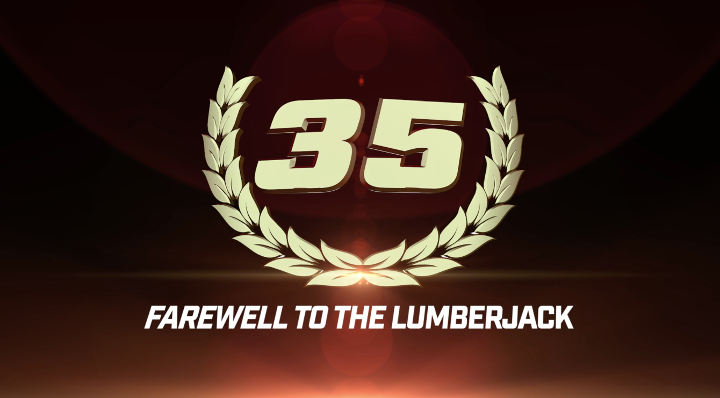 To 50 GLORY Moments: #35 Farewell to 'The Lumberjack'