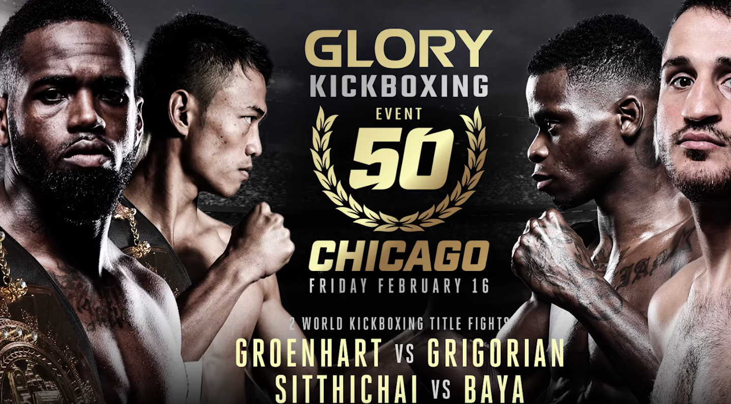 Don't miss GLORY 50 Chicago and GLORY 50 SuperFight Series on February 16th!