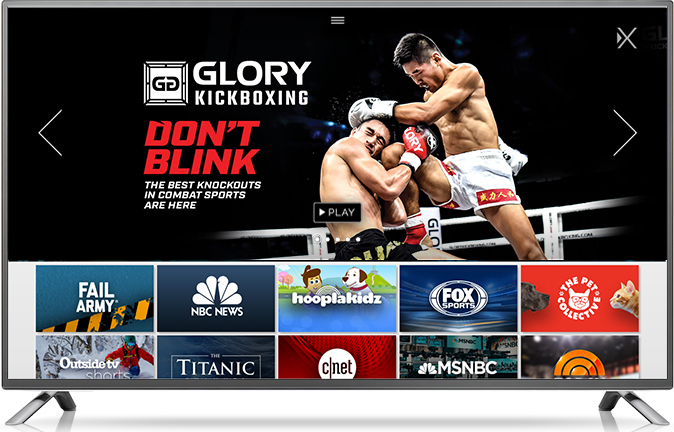 GLORY PARTNERS WITH OTT STREAMING SERVICE XUMO