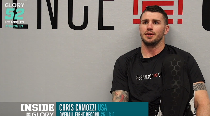 GLORY 52: Chris Camozzi mixes sport w/ science at Resilience Code