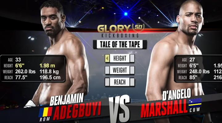 GLORY 50: D'angelo Marshall vs. Benjamin Adegbuyi (Tournament Semi-finals) - FULL FIGHT