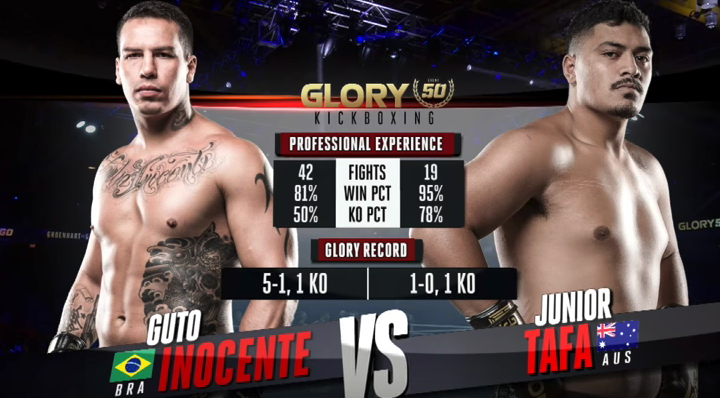 GLORY 50: Guto Inocente vs. Junior Tafa (Tournament Semi-finals) - FULL FIGHT
