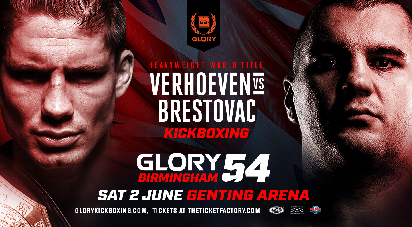 Rico Verhoeven to Defend Heavyweight Championship Against Mladen Brestovac at GLORY 54 Birmingham