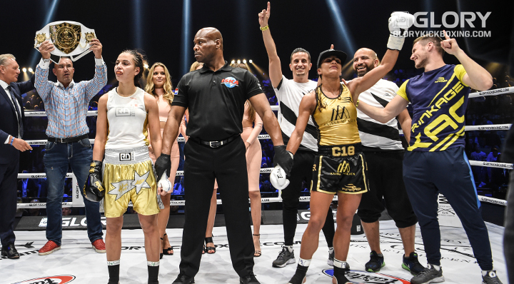 "Anissa Meksen vows to remain champion ""for a very long time"" following GLORY 53 win"
