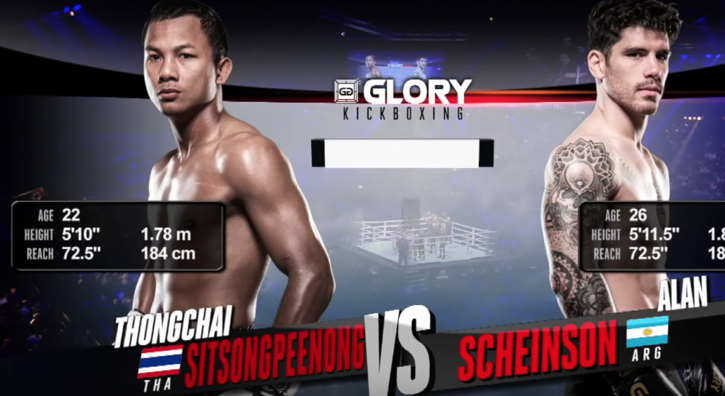 GLORY 51: Thongchai vs. Alan Scheinson (Tournament Semi-finals) - FULL FIGHT