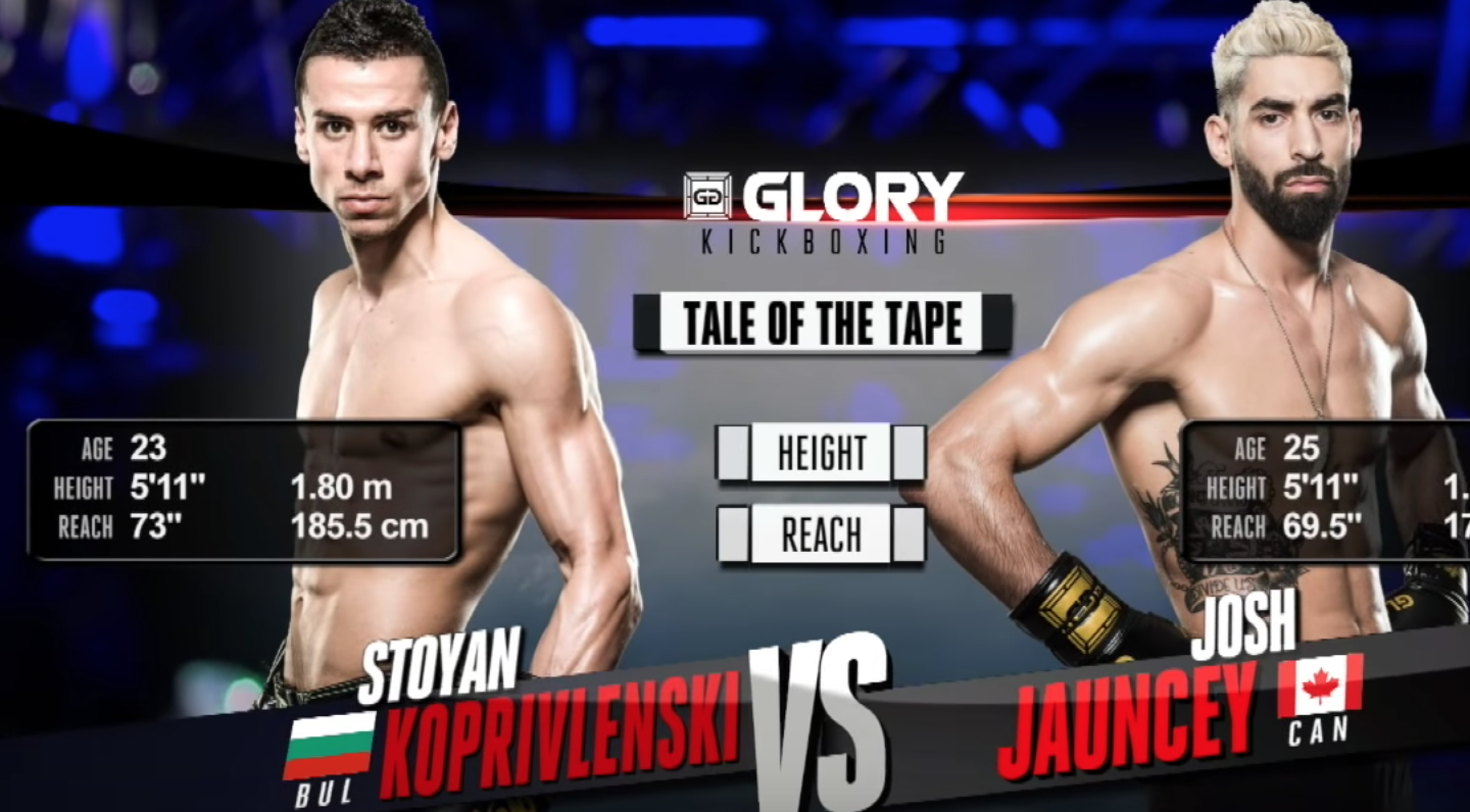 GLORY 52: Josh Jauncey vs Stoyan Koprivlenski- Full Fight