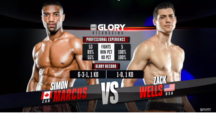 GLORY 52: Simon Marcus vs Zack Wells- Full Fight