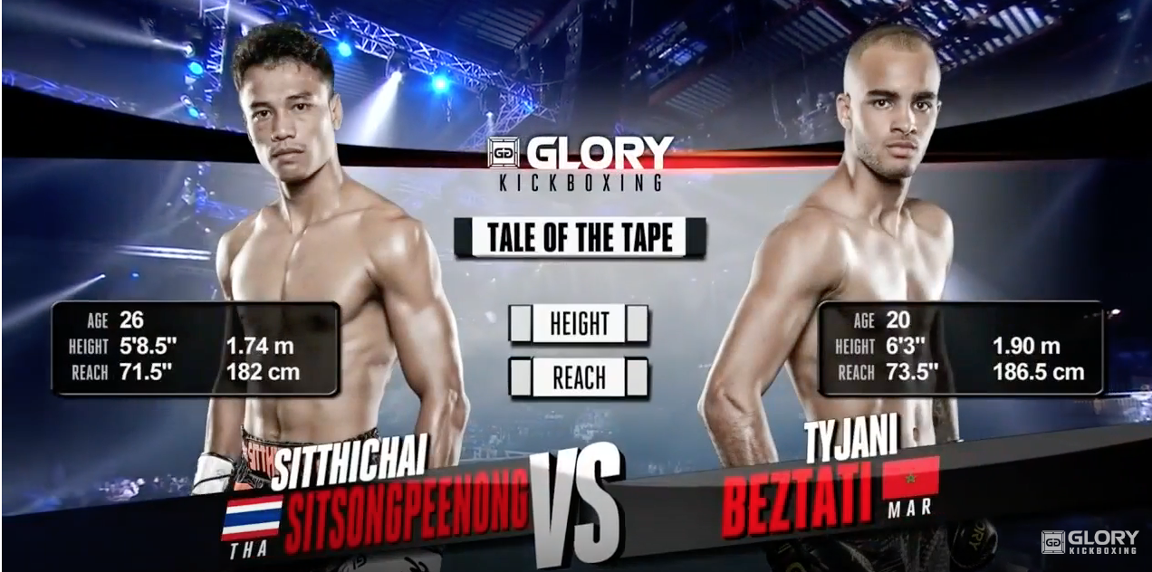 GLORY 53: Sitthichai Sitsongpeenong vs. Tyjani Beztati- Full Fight