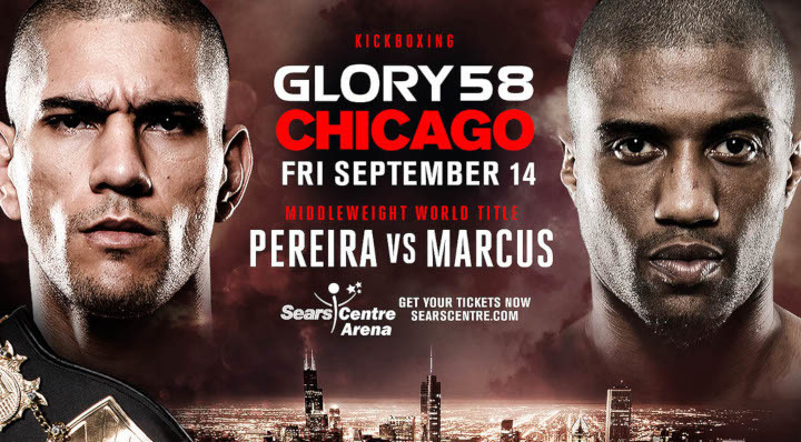 Middleweight World Title Bout Added to GLORY 58 Chicago Pitting Champion Alex Pereira Against Challenger Simon Marcus