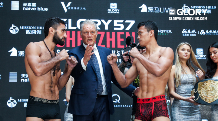 GLORY 57: All fighters on weight for Shenzen showdown
