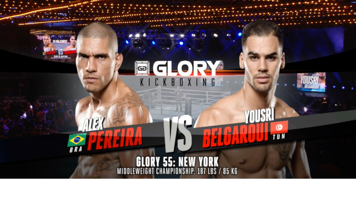 GLORY 55: Alex Pereira vs Yousri Belgaroui (Middleweight Title Match) - Full Fight