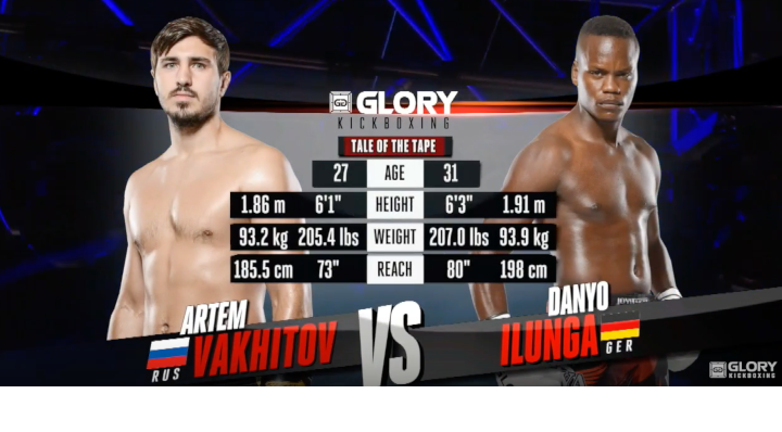 GLORY 56: Artem Vakhitov vs Danyo Ilunga (Light Heavyweight Title Match) - Full Fight