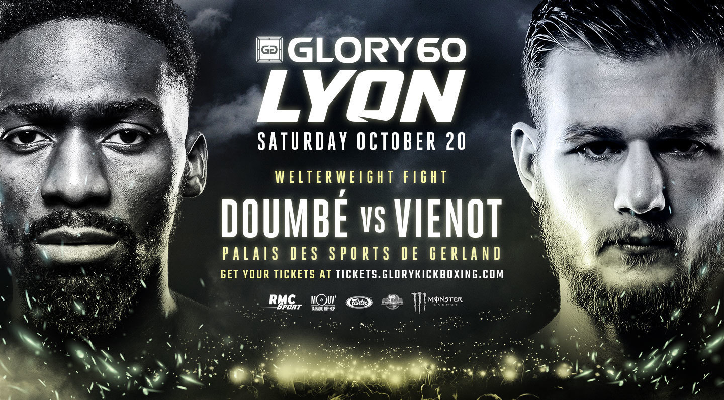 France's Jimmy Vienot Jumps into GLORY 60 Lyon Headline Slot to Face Former Champion Cédric Doumbé