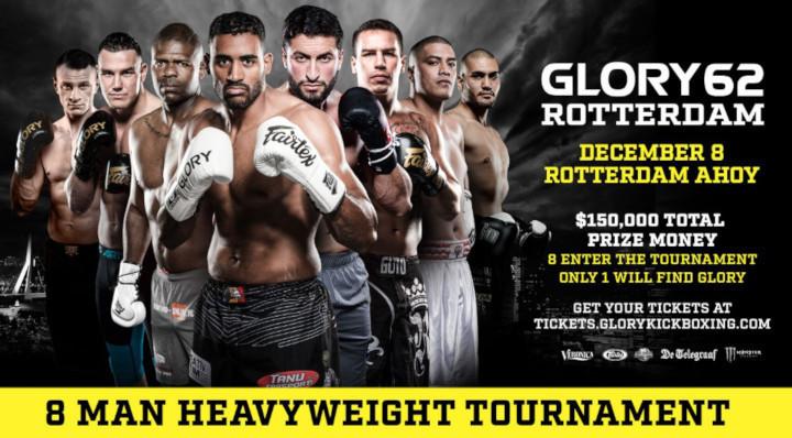 Heavyweights Mohamed Abdallah and Arkadiusz Wrzosek Fill Final Two Tournament Slots at GLORY 62 Rotterdam