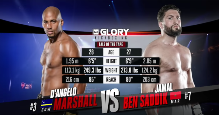 GLORY 59: D'Angelo Marshall vs. Jamal Ben Saddik - Full Fight