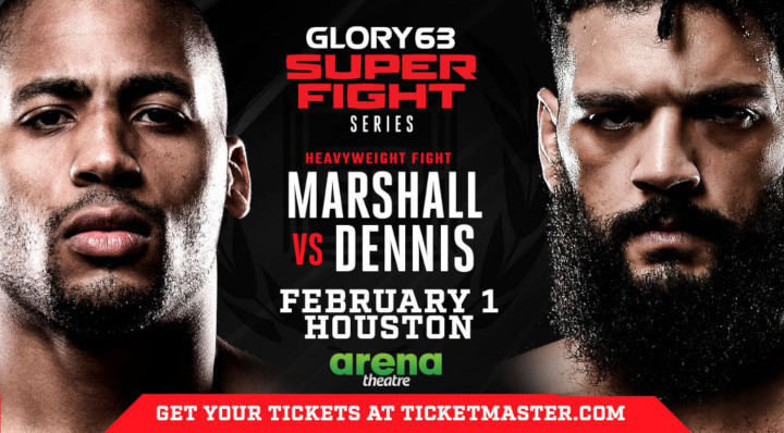 D'Angelo Marshall vs. Demoreo Dennis Headlines GLORY 63 SuperFight Series on Friday, Feb. 1